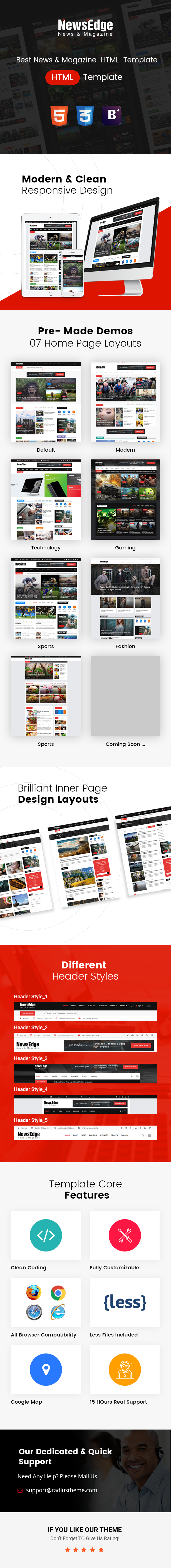 news blog html template