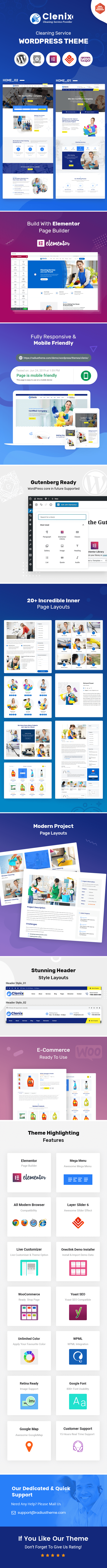 cleaing services WordPress theme