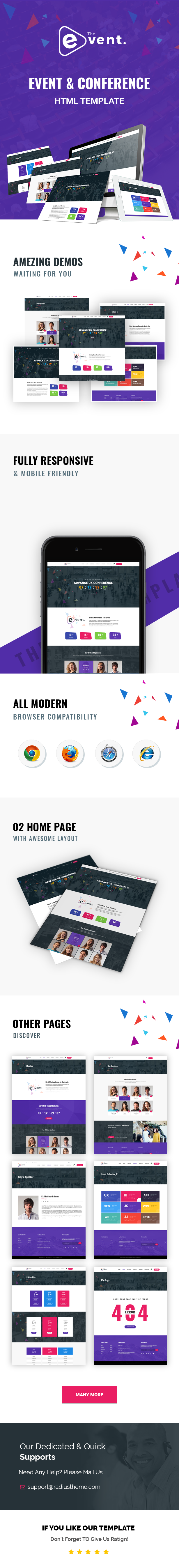 TheEvent - Event and Conference HTML5 Template