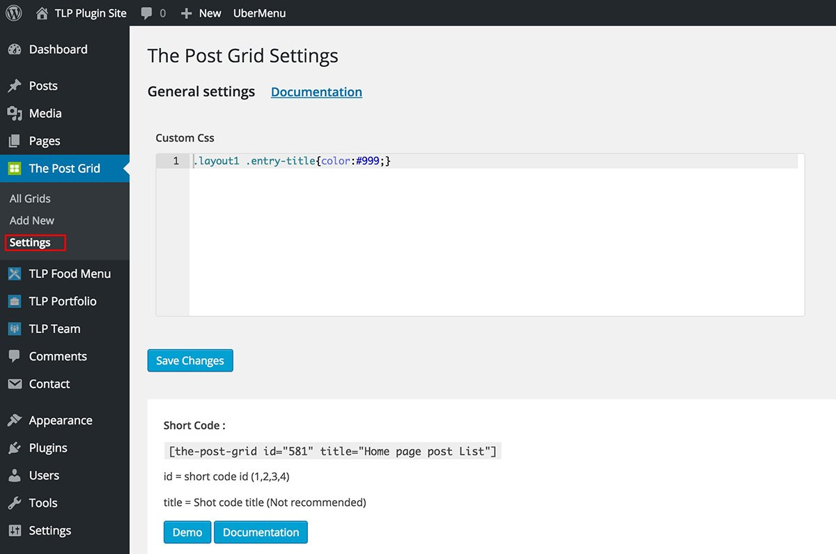 the_porst_grid_settings