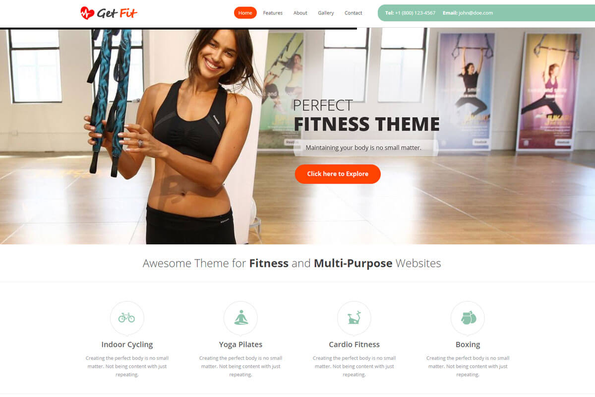 Get Fit Theme