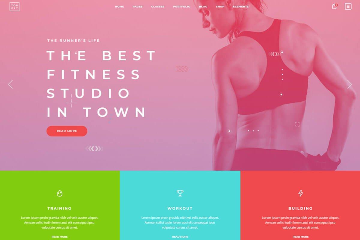 Top fitness theme