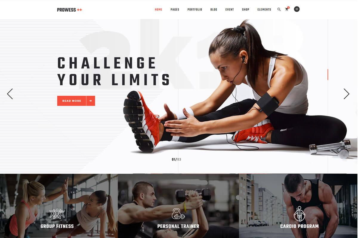 gym fitness theme