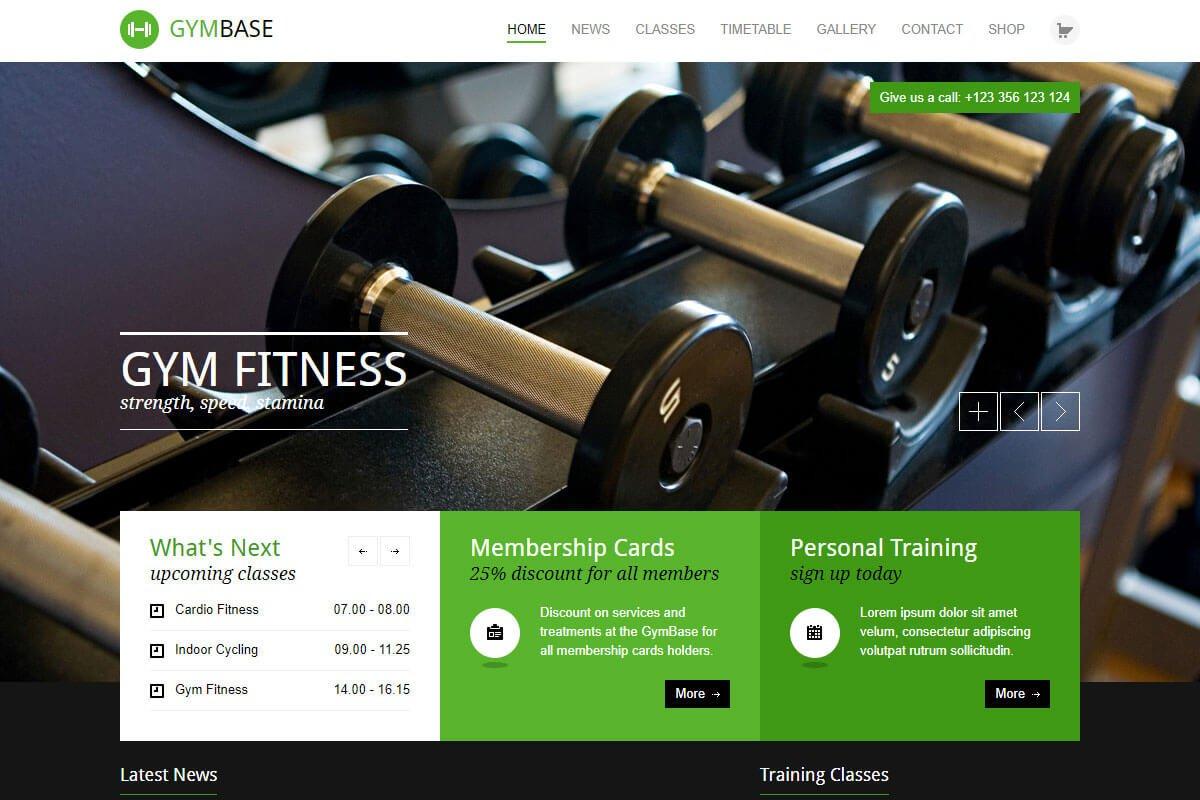 gymbase gym theme