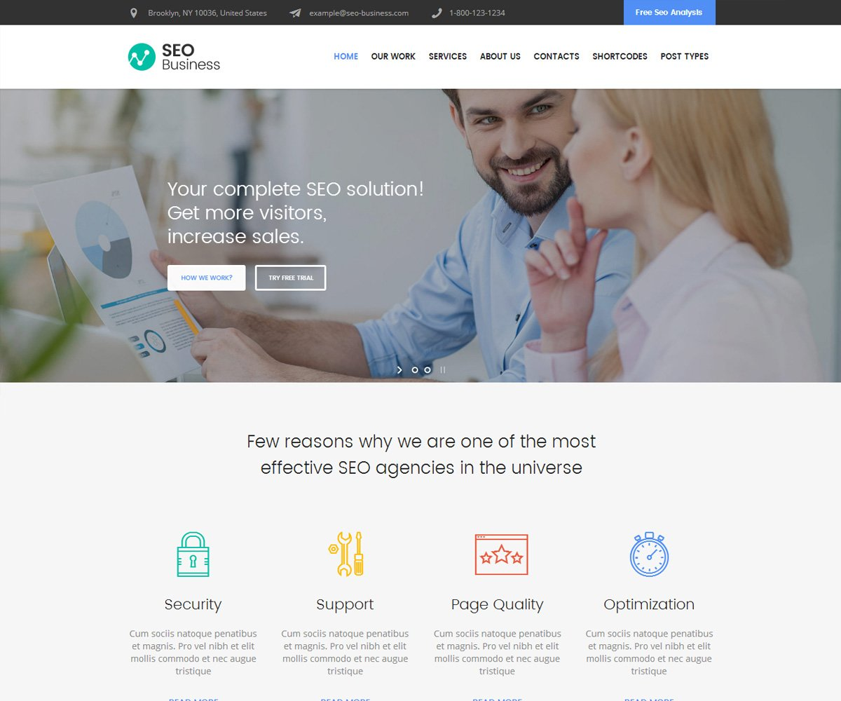 WordPress Theme for SEO business
