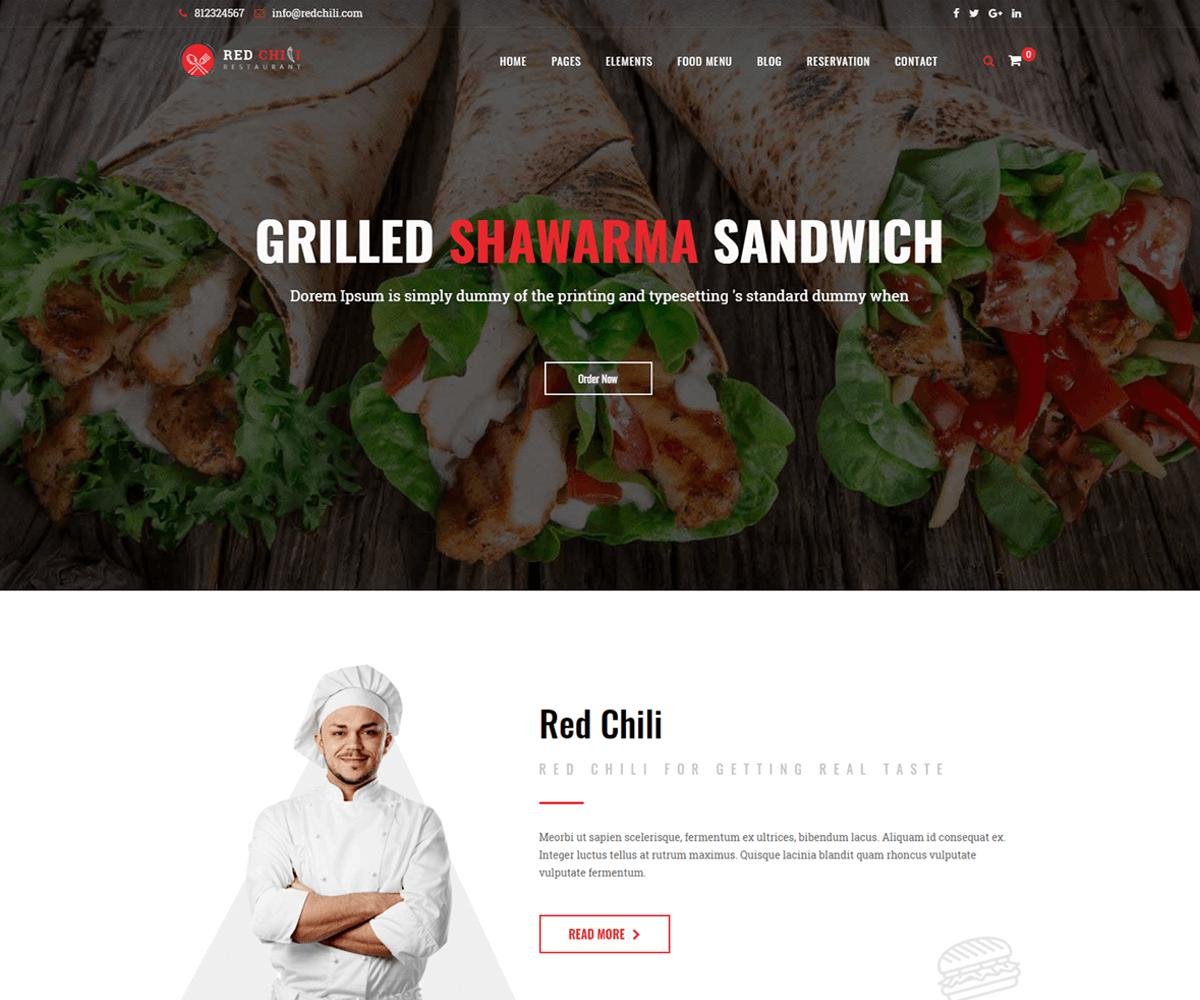 Best wordpress restaurant theme online ordering
