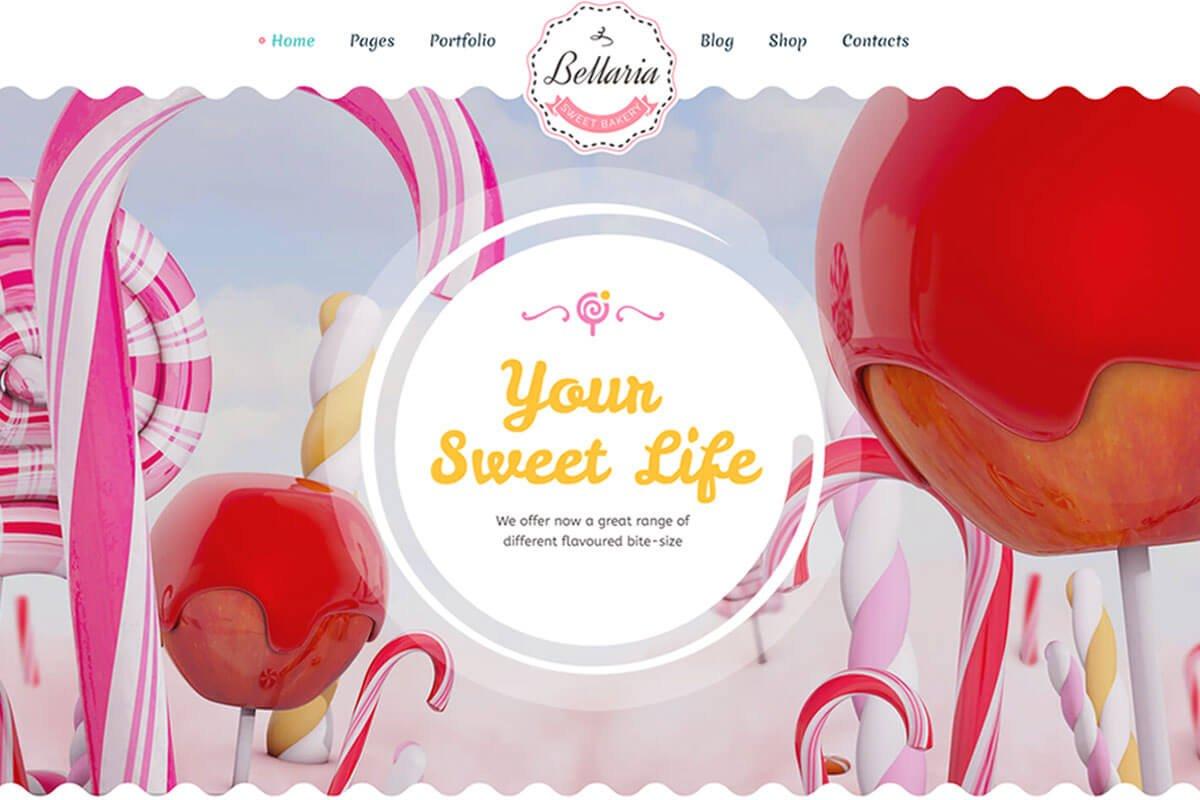 Bellaria Cakes and Bakery WordPress Theme