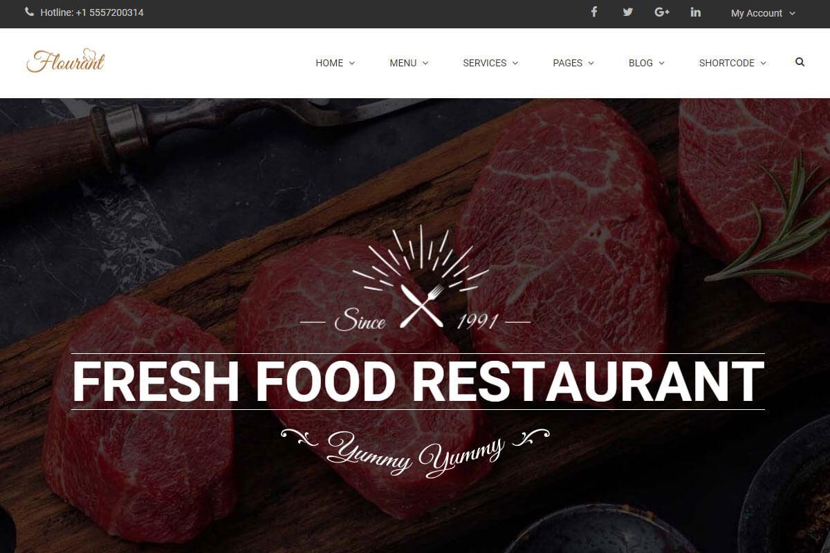 Floury Fast Food WordPress Theme