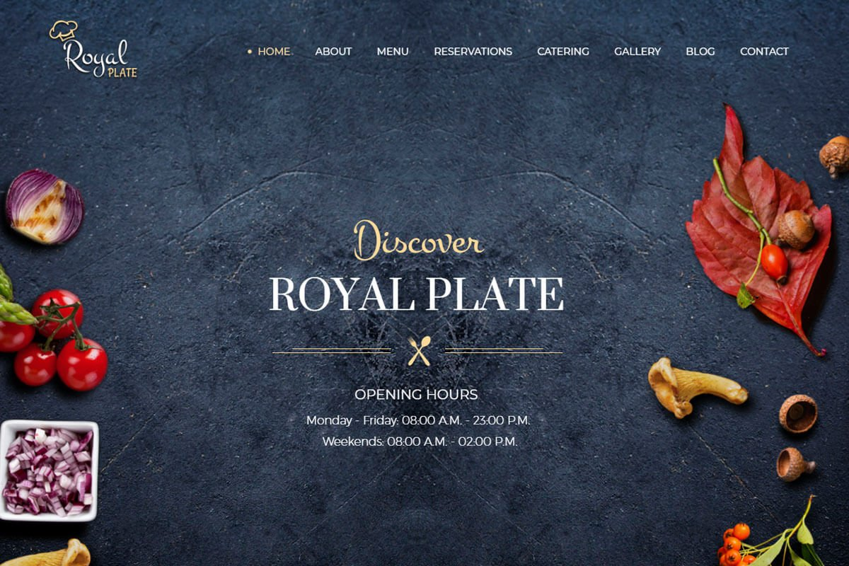 Royal place Restaurant and Catering WordPress Theme