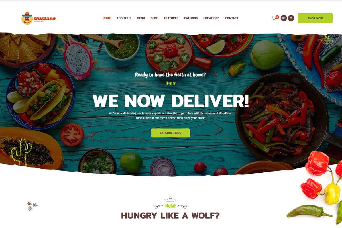 Gustavo responsive Restaurant Themes