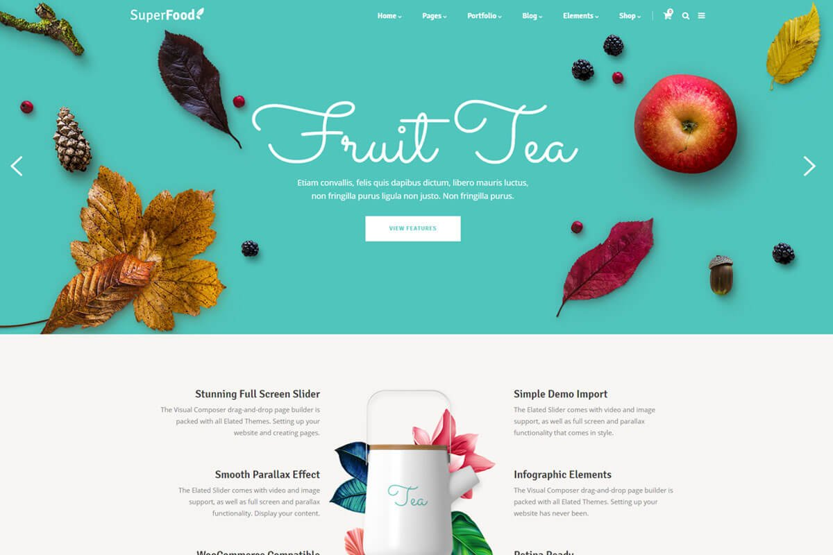 Superfood restaurant themes