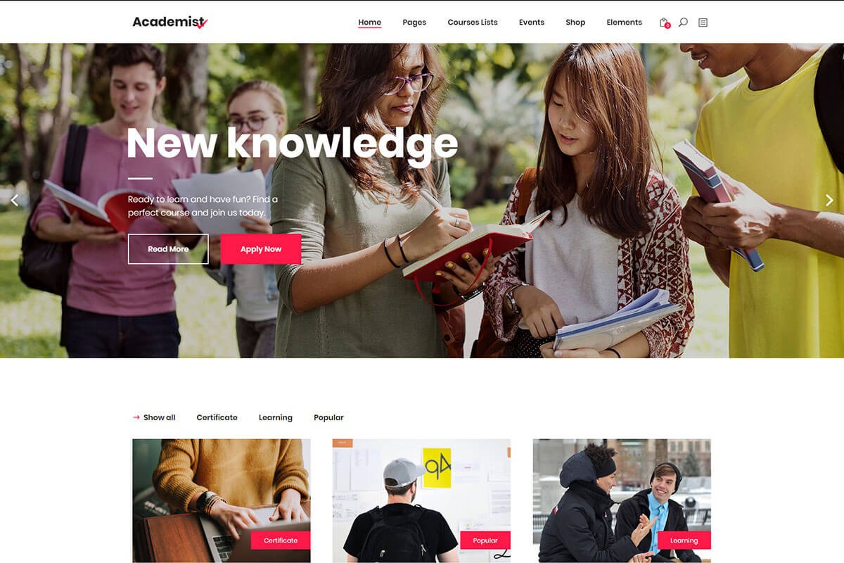 Education & Learning Management System Theme