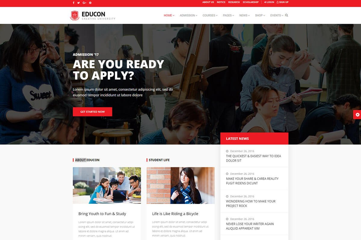 Educon WordPress Theme