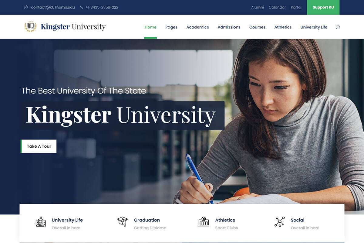 Kingster education theme