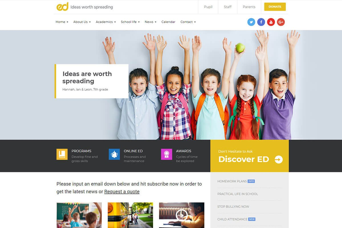 School WordPress Theme
