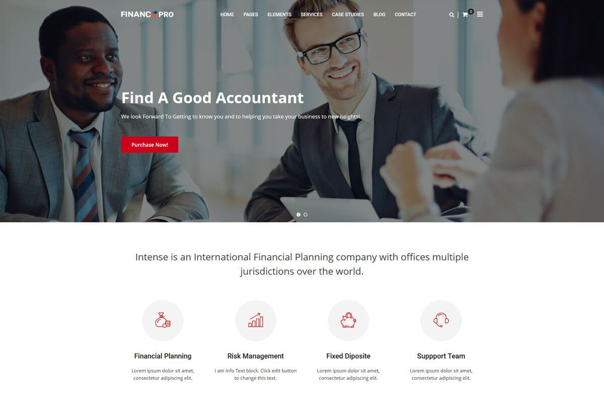 best finance wordpress theme for finance advisor