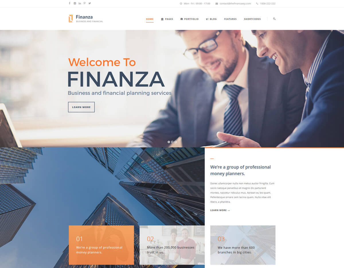 best wordpress themes for financial advisors