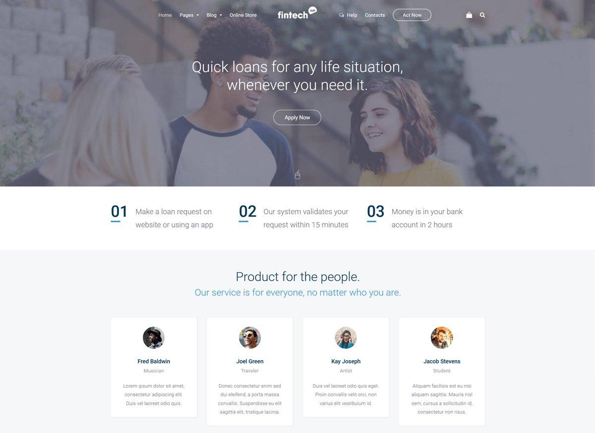 wordpress template insurance company  10 Best Finance WordPress Themes - RadiusTheme