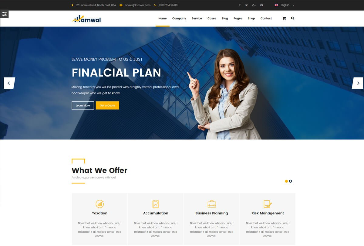 wordpress theme for consulting business