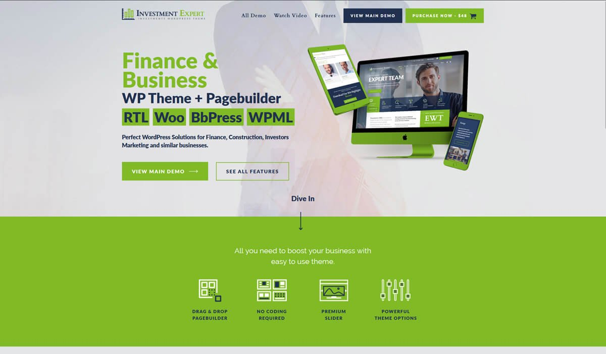 wordpress theme for consulting company