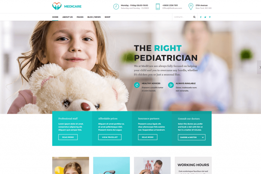 medicare Is the best medical WordPress theme