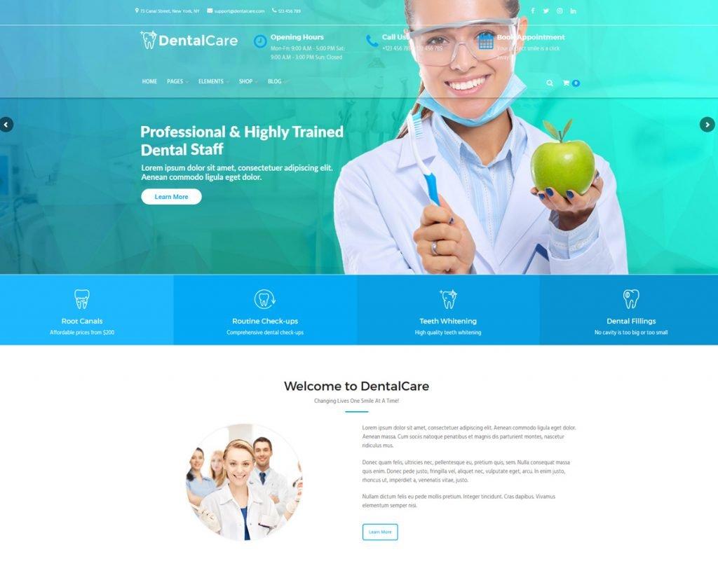best medical wordpress theme for dentist