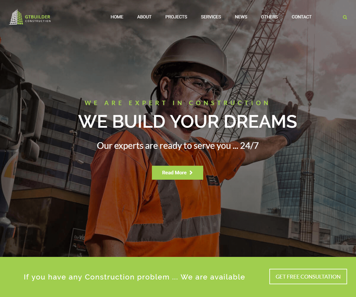 best construction business theme