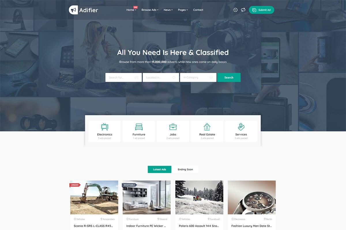 Adifier Classified ads WordPress theme