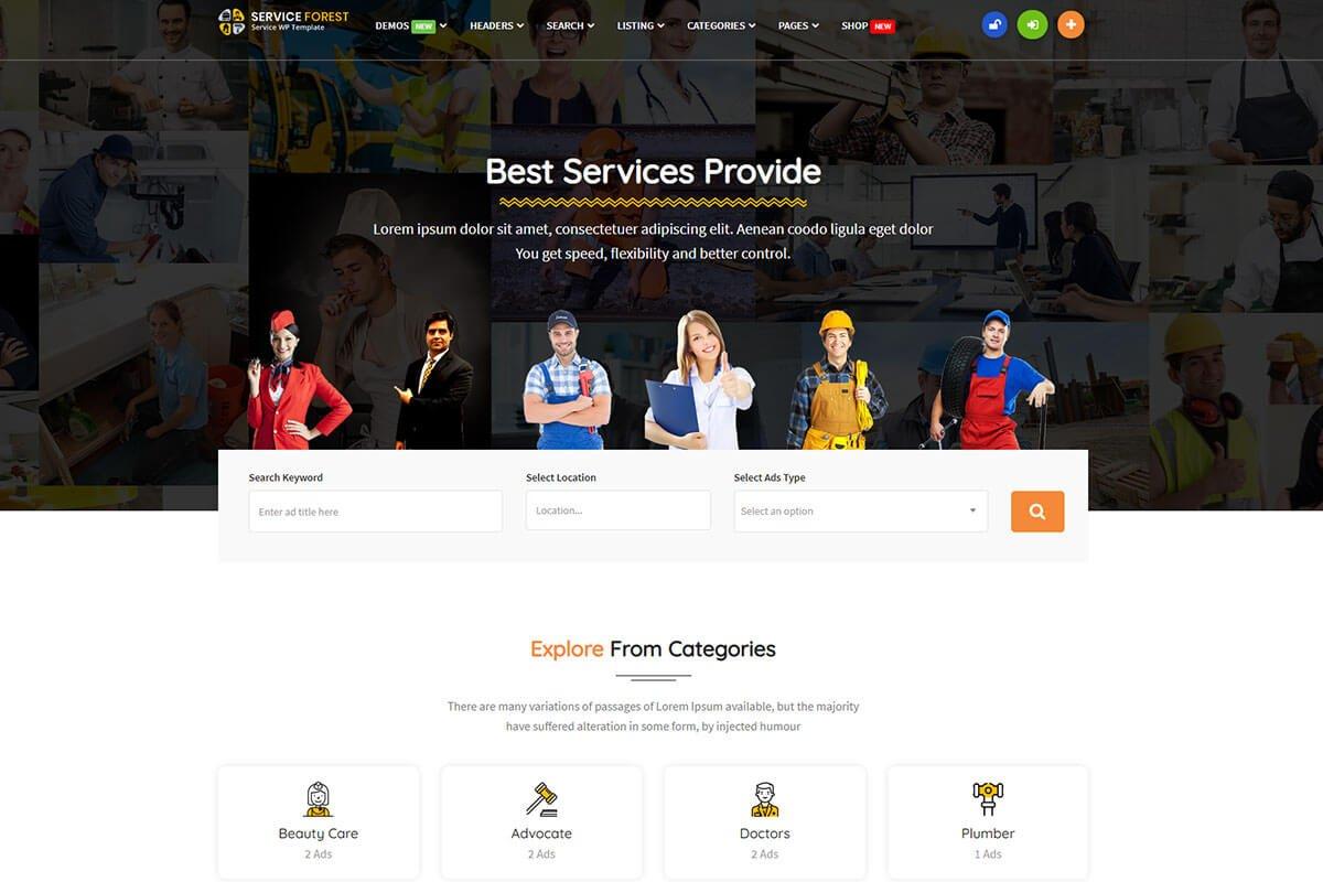 Best WordPress Theme for classified website