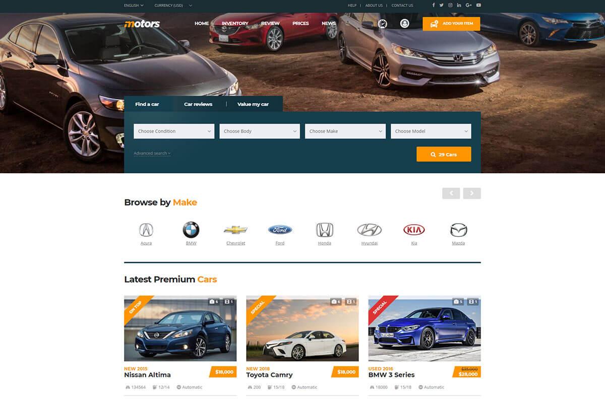 Motors is a best Classified ads WordPress Theme