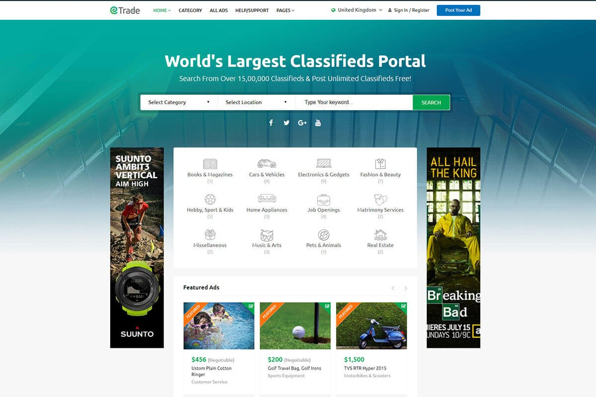 best Classified ads WordPress Theme