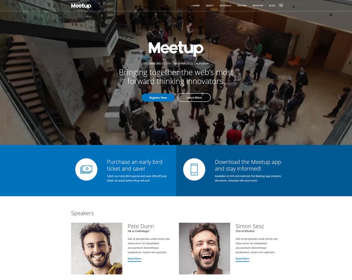 responsive WordPress event conference theme
