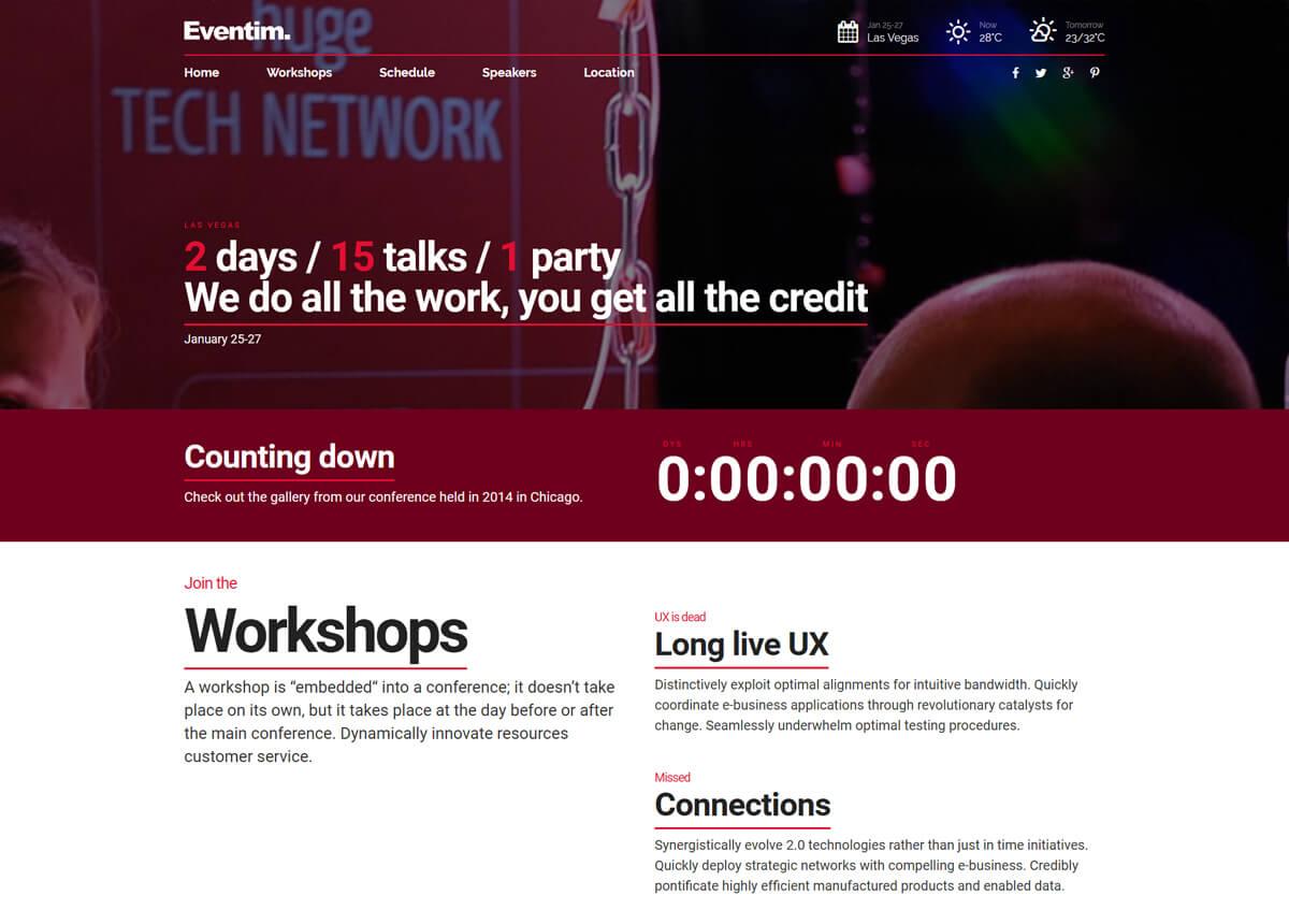 event management company WordPress theme