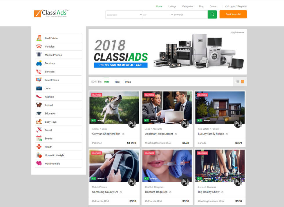 best classified ads wordpress theme