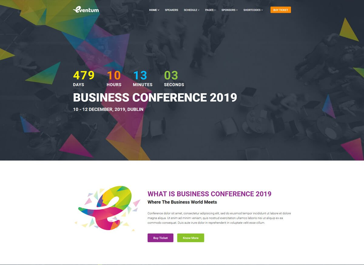 WordPress themes for event companies