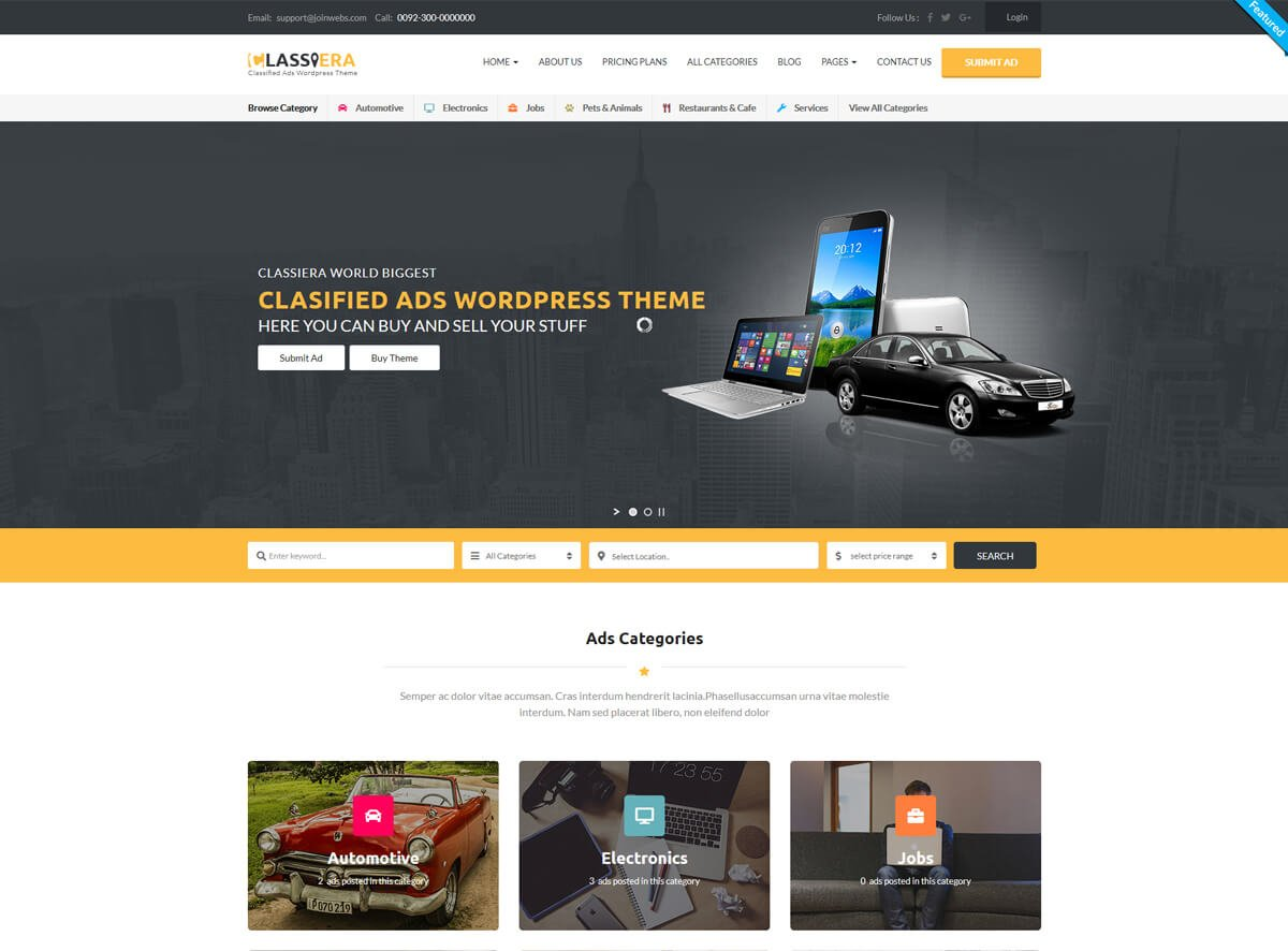 best WordPress theme for classified ads