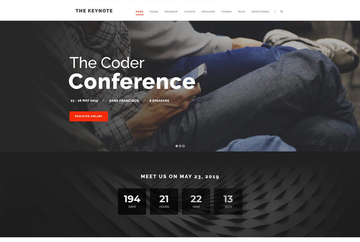 responsive best WordPress theme for an event