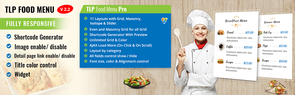 best wordpress restaurant menu plugin