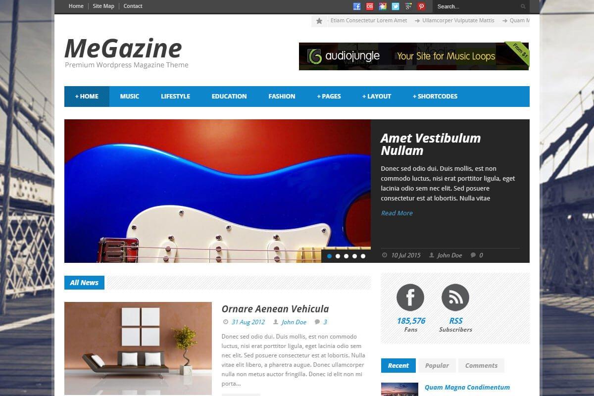 Megazine Best WordPress Theme for news website
