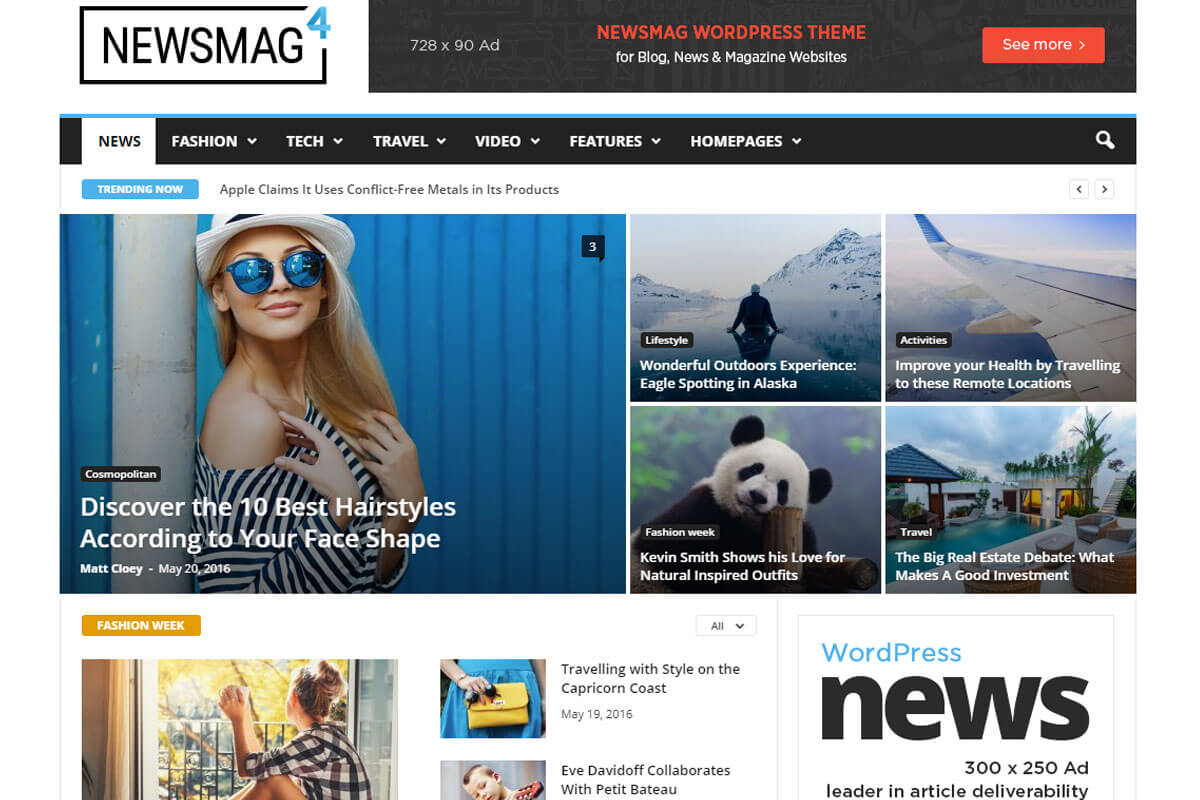 NewsMag is the Best WordPress Theme for news website