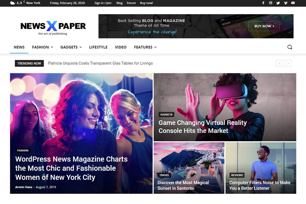 best wordpress themes for news site