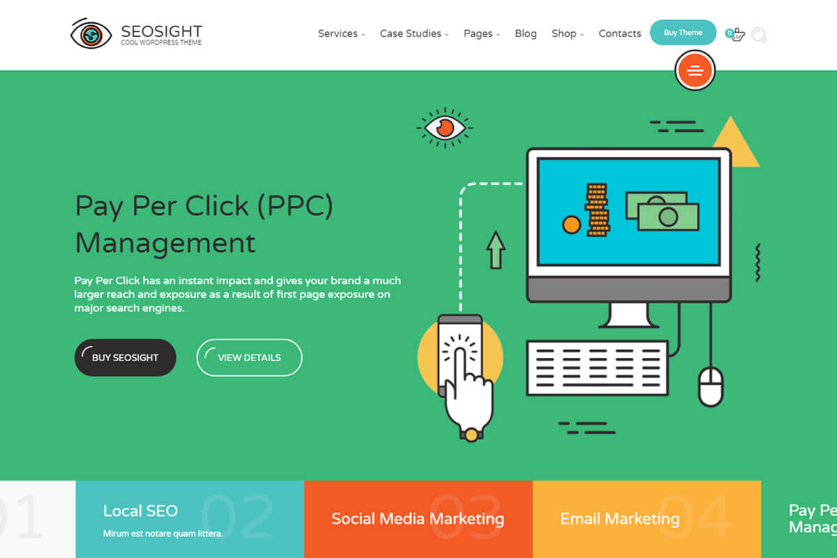 seo agency wordpress theme
