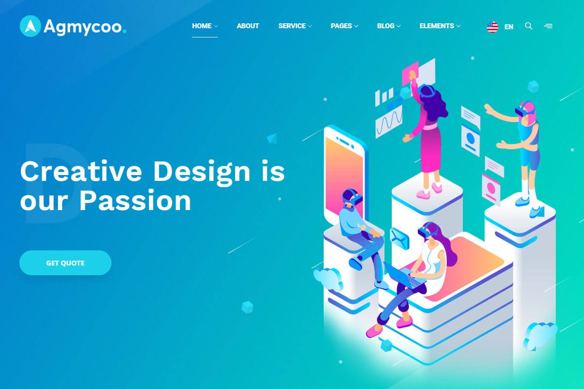 Agmycoo digital agency theme