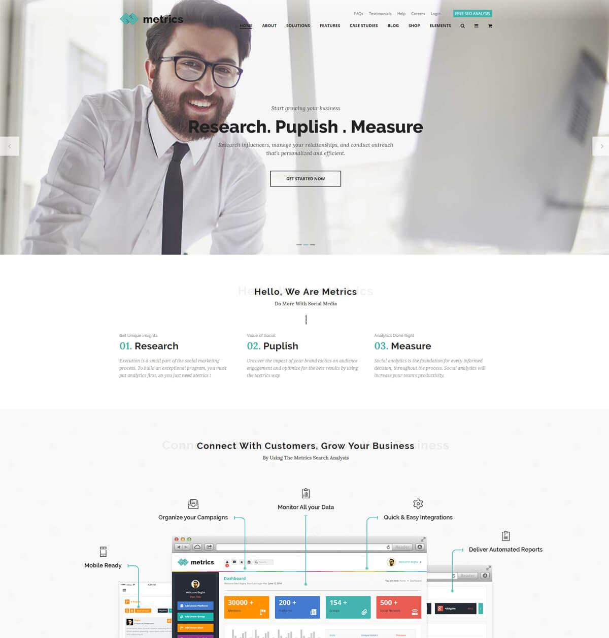 Seo-metrics-seo-wordpress-theme