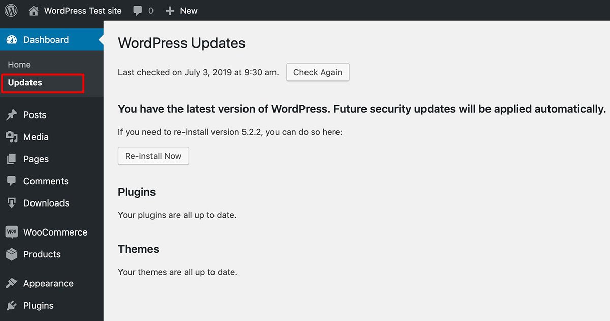 Keep WordPress update