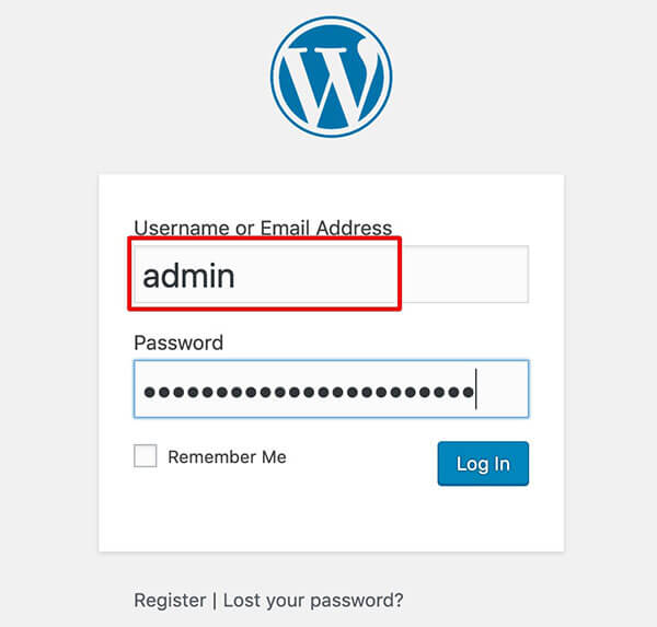 wordpress admin user name change