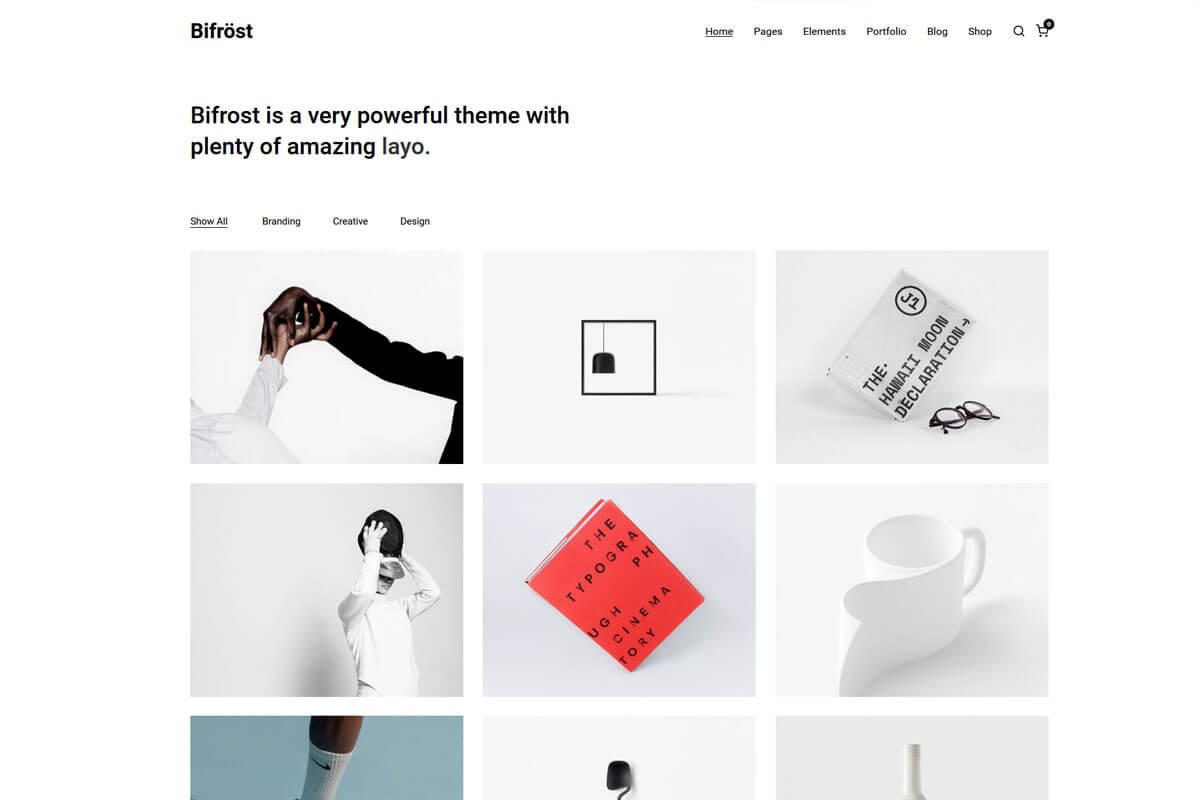 Birfrost is another minimalist WordPress theme