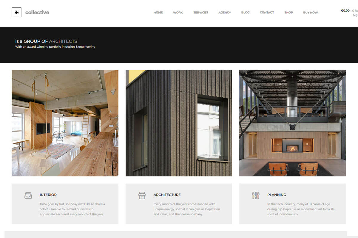 minimalist WordPress theme for portfolio