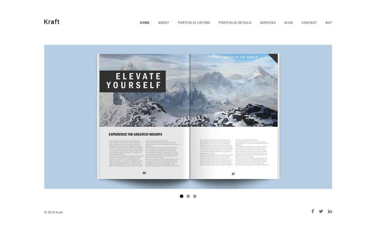 Kraft minimalist WordPress theme