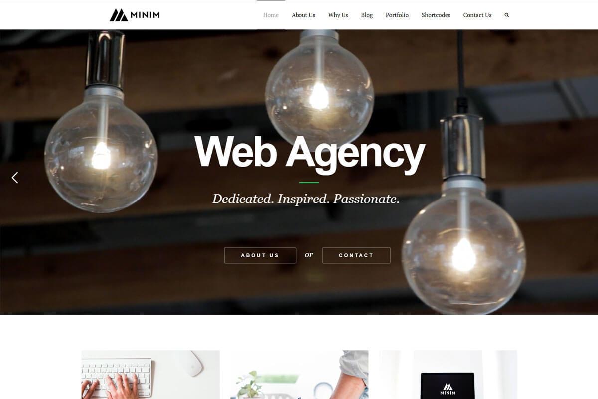 Minim is a minimalist WordPress theme for agency